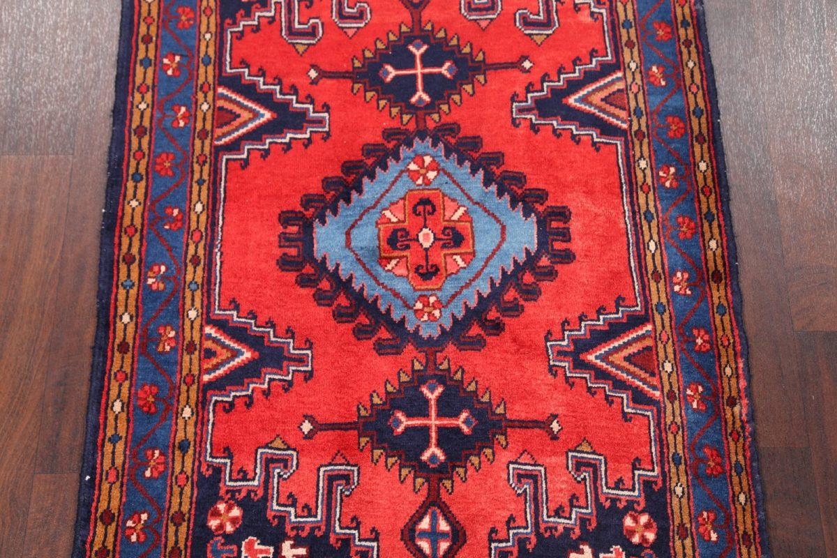 Geometric Tribal Viss Sirjan Persian Area Rug 4x5