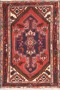 Geometric Tribal Hamedan Persian Rug 3x4