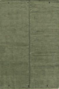 Contemporary Green Gabbeh Indian Oriental Area Rug 7x10