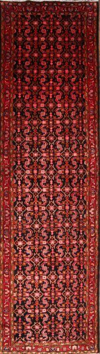 Geometric Malayer Hamadan Persian Area Rug 4x14