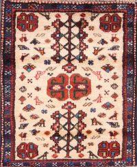Shiraz Abadeh Persian Ivory Area Rug 2x4