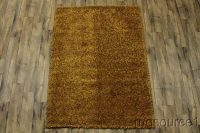 Plush Orange Shaggy Shag Oriental Rug 5x8
