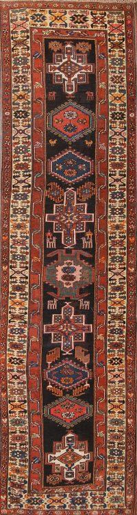 Heriz Bakhshayesh Persian Runner Rug 4x14
