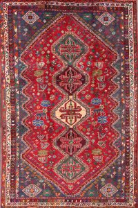 Geometric Shiraz Abadeh Persian Area Rug 5x8