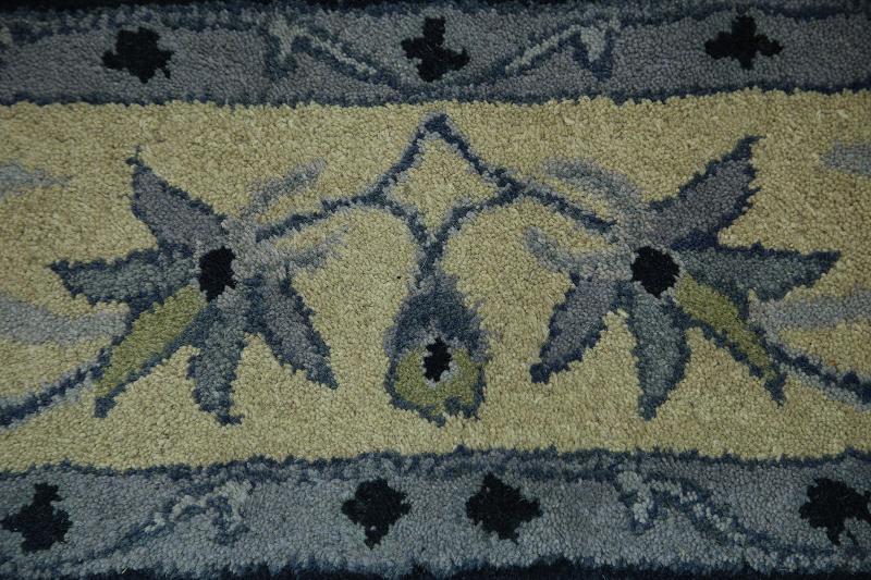 Hand-tufted Oushak Agra Indian Oriental Area Rug 6x9