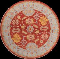 Floral Oushak Agra Oriental Round Area Rug 10x10