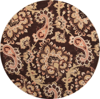 Hand-Tufted 10x13 10x10 Round Oushak Oriental Area Rug