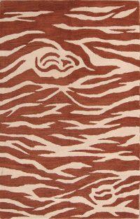 Zebra Animal Print Oushak Oriental Area Rug