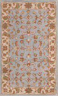 Hand-Tufted Light Blue Oushak Agra Oriental Area Rug