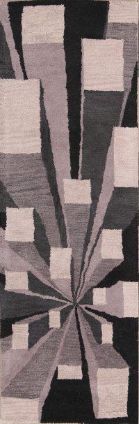 Hand-Tufted Modern Oushak Gabbeh Oriental Area Rug