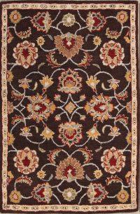 Hand-Tufted Floral Oushak Tabriz Oriental Area Rug