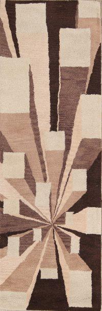 Hand-Tufted Modern Runner Oushak Oriental Area Rug