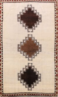 Geometric 4x7 Gabbeh Shiraz Persian Area Rug