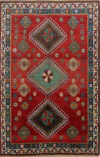 Geometric Tribal 5x7 Gabbeh Qashqai Persian Area Rug