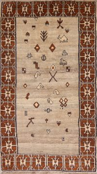Geometric Tribal Nomad 4x7 Gabbe Shiraz Persian Area Rug