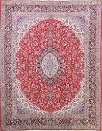Soft Plush Floral 10x13 Kashan Persian Area Rug