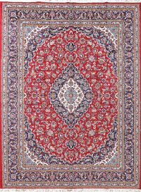 Soft Plush Floral Kashan Persian Area Rug 10x13