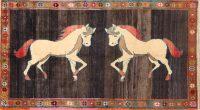 Animal Pictorial Horse 4x7 Gabbeh Kashkoli Shiraz Persian Area Rug