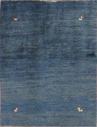 Little Animal Tribal Blue 4x5 Gabbeh Shiraz Persian Area Rug