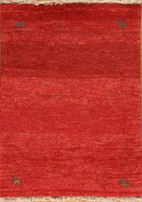 Abstract Thick Pile 3x4 Gabbeh Shiraz Persian Area Rug