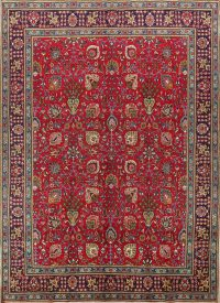 Floral All-Over Tabriz Persian Area Rug 10x13