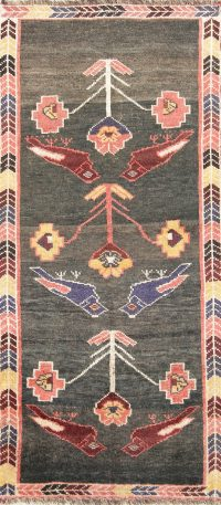 Animal Pictorial Birds 3x8 Gabbeh Qashqai Persian Rug Runner