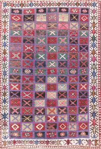 Geometric 4x6 Gabbeh Shiraz Persian Area Rug