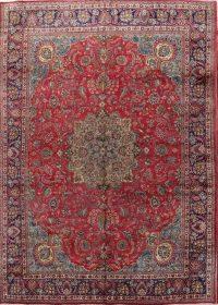 Vintage Floral Mashad Persian Area Rug 10x13