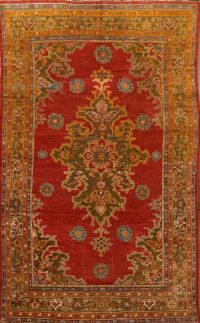 Pre-1900 Vegetable Dye Sultanabad Sarouk Persian Area Rug 7x12