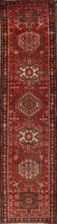 Geometric Gharajeh Persian Runner Rug 3x11
