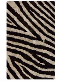 Zebra Print Shaggy Oriental Area Rug