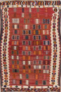 Tribal Kilim Shiraz Persian Area Rug 5x7