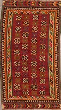 Geometric Kilim Shiraz Persian Runner Rug 5x9