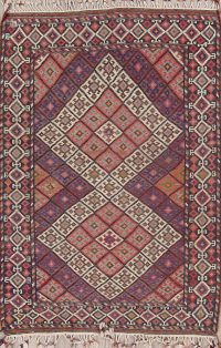 Geometric Kilim Shiraz Persian Area Rug 5x7