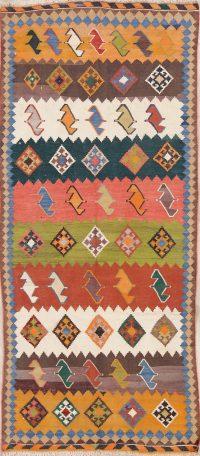 Geometric Kilim Persian Runner Rug 4x8