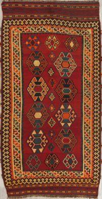 Geometric Kilim Shiraz Persian Area Runner Rug 5x110