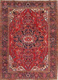 Red Geometric Heriz Persian Area Rug 9x11