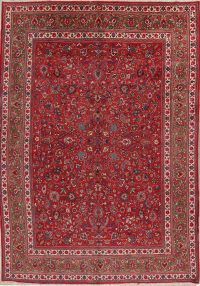 All-Over Floral Mashad Persian Area Rug 10x13