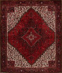 Red Geometric Heriz Persian Area Rug 10x12