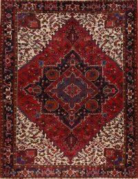 Red Geometric Heriz Persian Area Rug 10x13