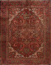 Red Floral Heriz Persian Area Rug 8x10