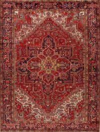 Antique Geometric Heriz Persian Area Rug 9x11