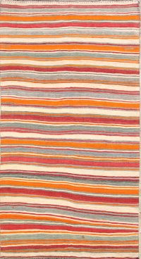 Striped Contemporary Kilim Shiraz Persian Area Rug 6x11