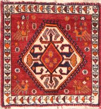 Geometric Abadeh Persian Square Rug 2x2