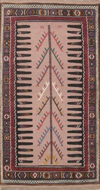 Tribal Kilim Shiraz Persian Area Rug 3x6