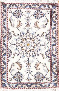 Floral Nain Persian Area Rug 2x3