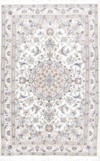 Floral Nain Persian Area Rug 5x8