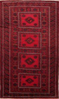 Geometric Balouch Bokhara Persian Area Rug 4x8