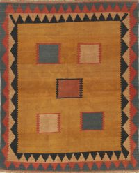 Kilim Shiraz Persian Area Rug 7x8