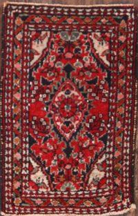 Floral Hamedan Persian Rug 1x2